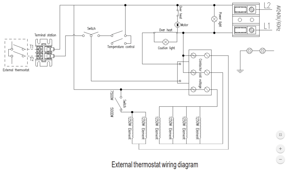 medium resolution of 7500 watt garage heater and remote thermostat wiring