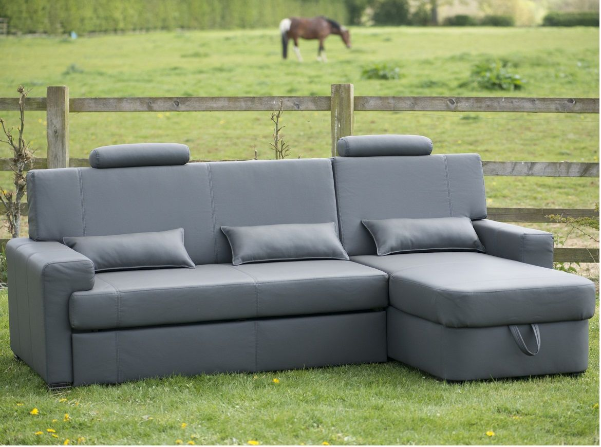 ex display sofa bed uk havertys leather quality modena grey faux right corner