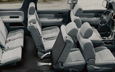 toyota 4runner captains chairs match fishing chair 10 best 7 passenger suvs 2019 comparison guide by germain cars sequoia interior 02