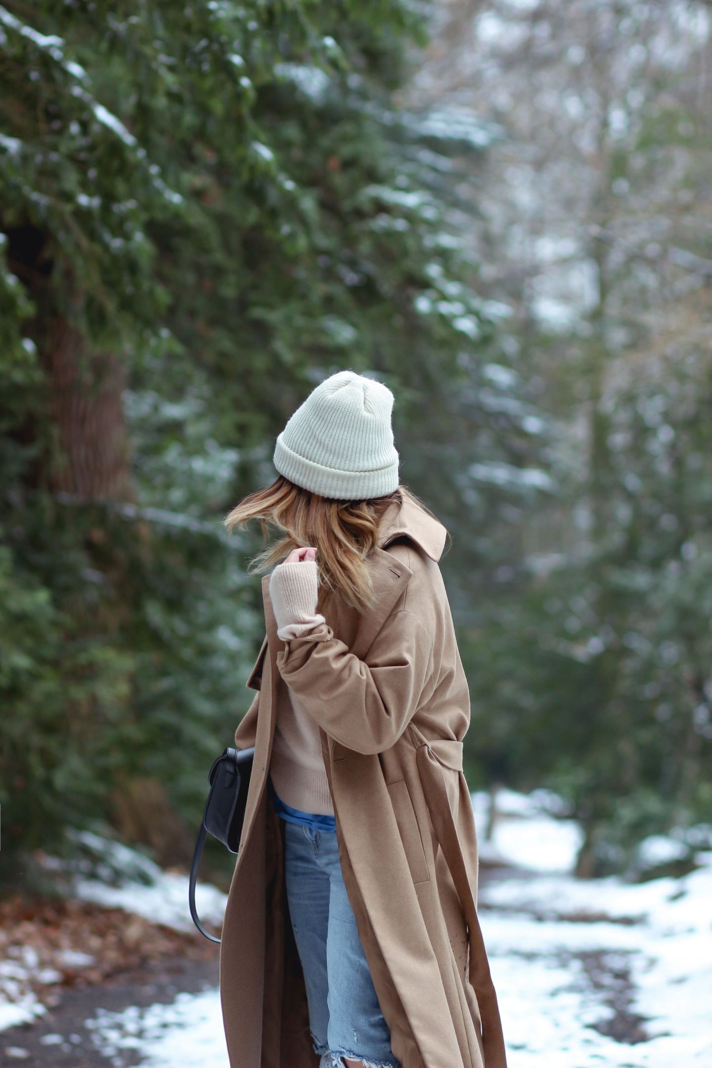 the green ananas, & other stories, manteau camel loose, manteau camel femme, sac celine, zara, boots femme, pull loose, blog mode, pinterest mode, happy in the snow