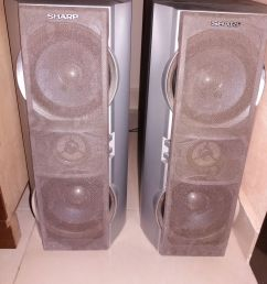 only use the speakers on my computer because i am on a tight budget and those speakers have high quality sound here are some pictures of the speakers  [ 3088 x 4128 Pixel ]
