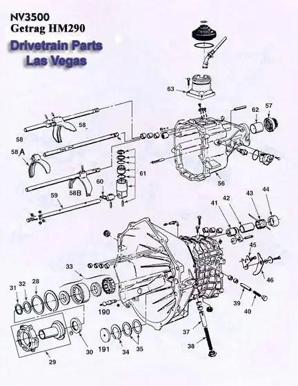 Getrag 290 / NV3500 Transmission Hard Parts & Rebuild Kits