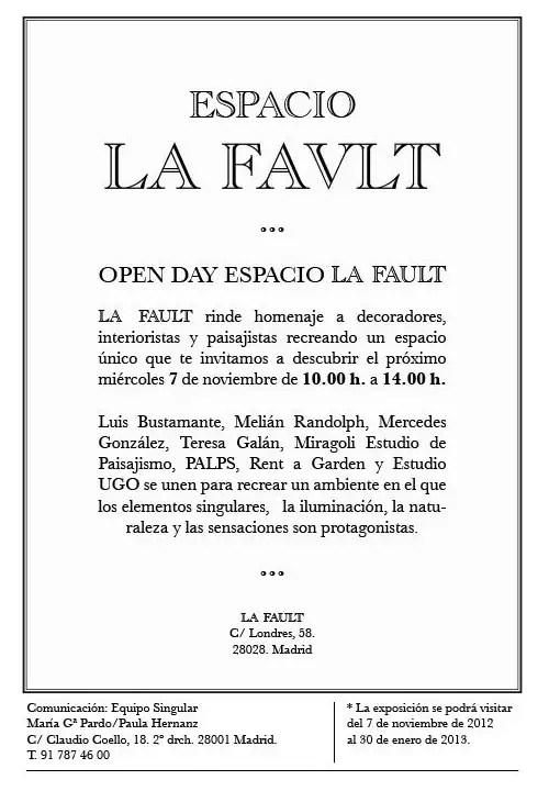ESPACIO LA FAULT