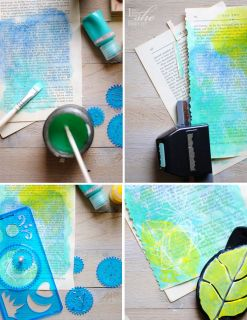 art, spirograph, acrylic, painting, michaels, diy, craft, color, rubber stamps, stamps
