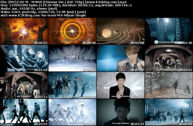 [MV] EXO-M - MAMA (Chinese Ver.) [HD 720p Youtube]