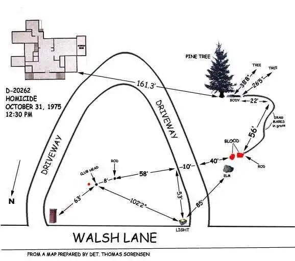 Sorensen crime scene diagram recreation in Maps and Photos