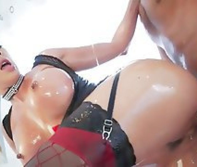 Blonde With A Big Oiled Ass Gets Fucked