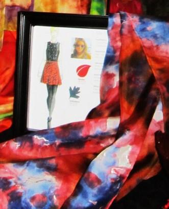 Textile Art Alliance - Samba Red Orange and Turbulence Blue