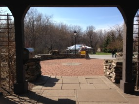 beautiful grounds of Penetentiary Glen, looking from the carriage house.