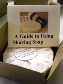 Our Shave soap packaging