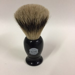 Our black handled super badger is luxury! made in England, super badger is a very sloft yet durable bristled brush in a black composite handle. Your face will love the gentle feel of this brush working up the lather on your face. $35.00