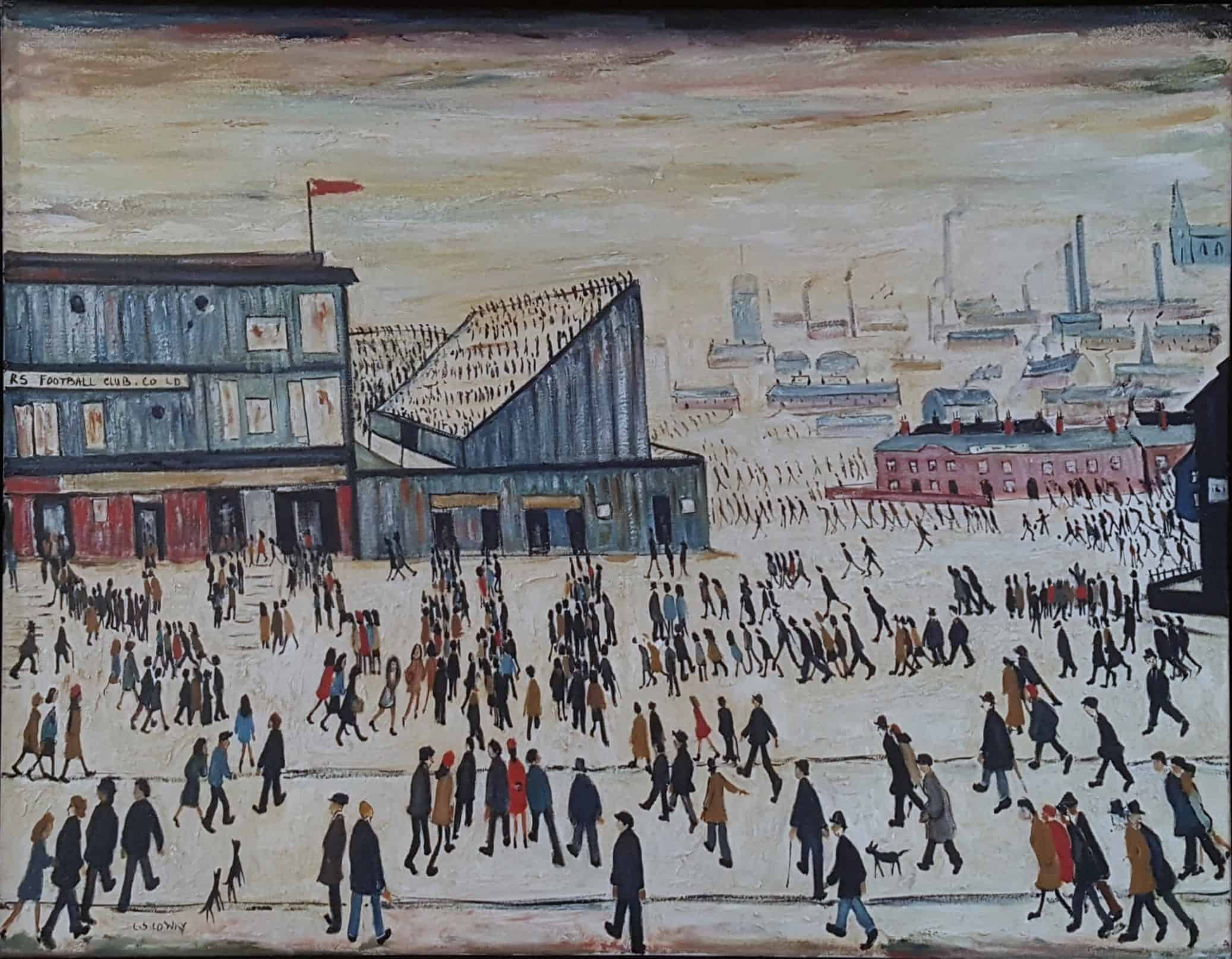 In The Style Of LS Lowry  Going to the Match