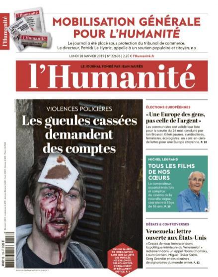 L'Humanité, 28/01/2019.