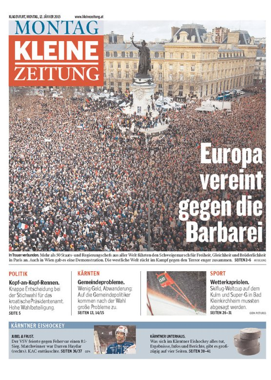 Kleine Zeitung (Autriche), 12 janvier 2015.