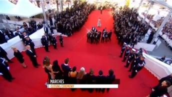 Montée des marches, Cannes, 2014 (Canal +, photogramme).