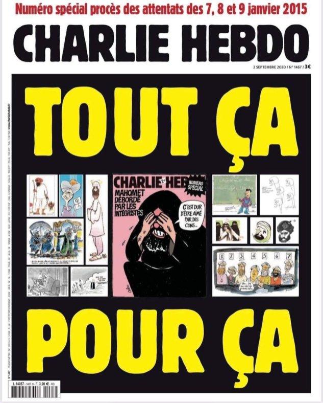 Charlie Hebdo, 02/09/2020.