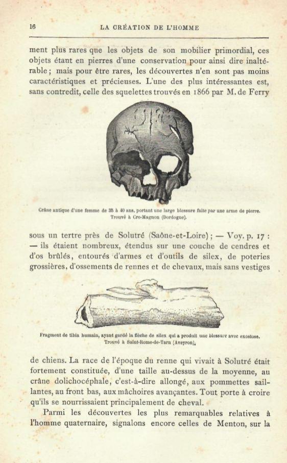 H. du Cleuziou, spécimens, La Création de l'homme, 1887.