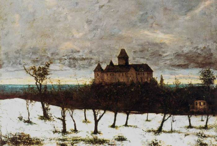 Courbet, Chateau de Blonay, v. 1873.