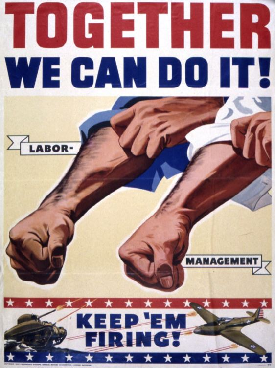 Affiche General Motors, 1942.