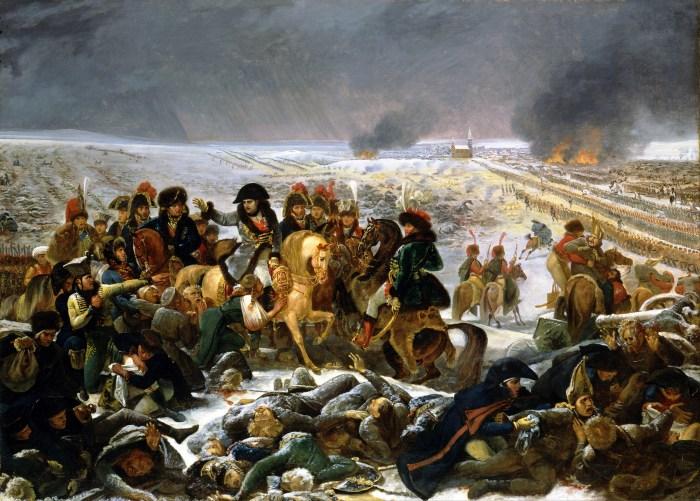 Antoine-Jean Gros, Napoléon sur le champ de bataille d'Eylau, 1808 (Louvre).