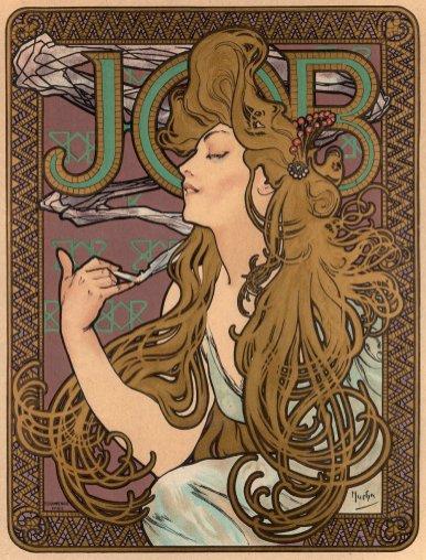 Alfons Mucha, affiche JOB, 1896.