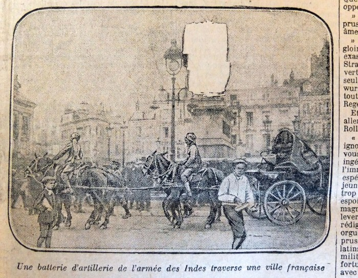 Photo caviardée, Le Journal, 19 octobre 1914.