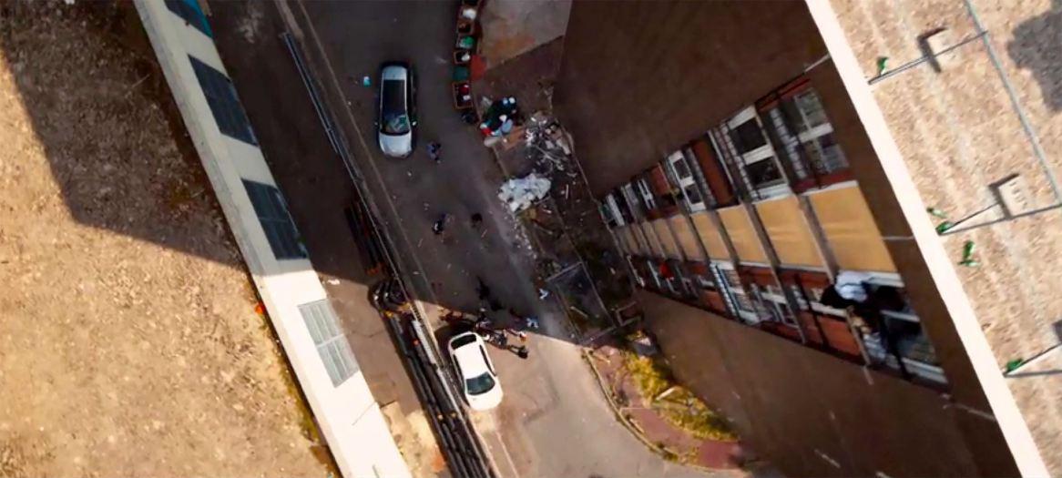 Les Misérables, scène du drone.