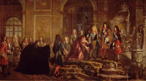 C. G. Halle, Louis XIV, 1715 (Versailles, détail).