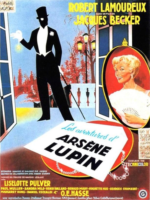 J. Becker, Arsène Lupin, 1957.