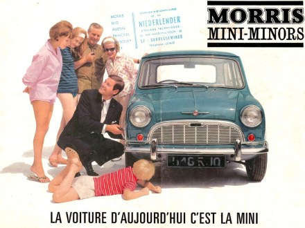 Publicité Mini Morris, 1967.