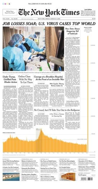 New York Times, 27/03/2020.