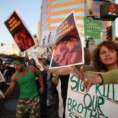 Manifestation anti-iranienne, Los Angeles, 22 juin 2009 (Getty Images).