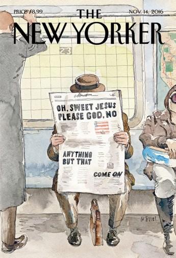Barry Blitt, New Yorker, 14/11/2016.