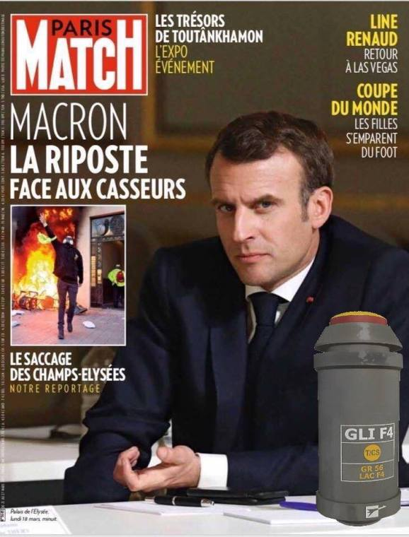 Détournement de la couverture de Paris-Match.