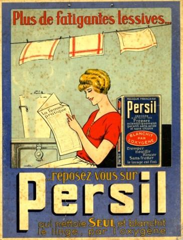 Publicité Persil, années 1920.