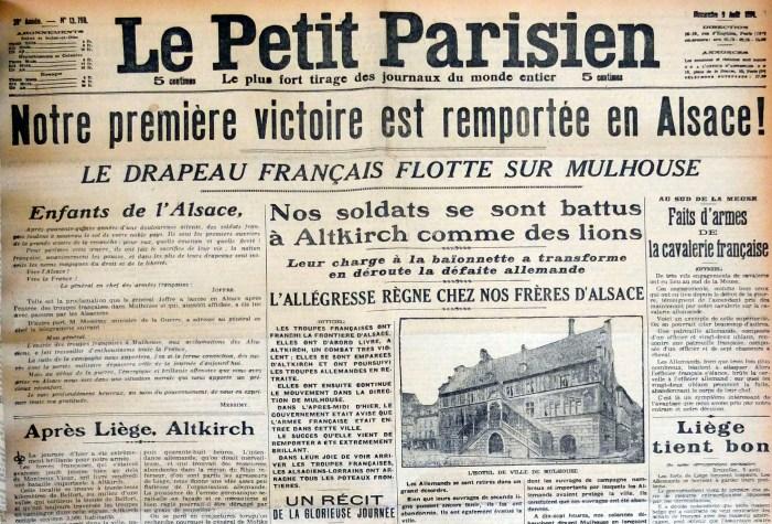Le Petit Parisien, 9 août 1914.