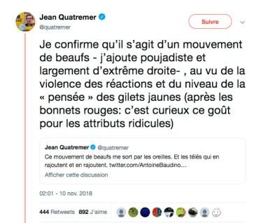 Jean Quatremer, Twitter, 10/11/2018.