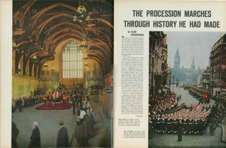 4. Churchill's funeral, Life, February 5, 1965