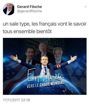 Tweet de G. Filoche, le 17/11/2017.
