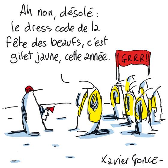 Xavier Gorce, Le Monde, 07/11/2018.