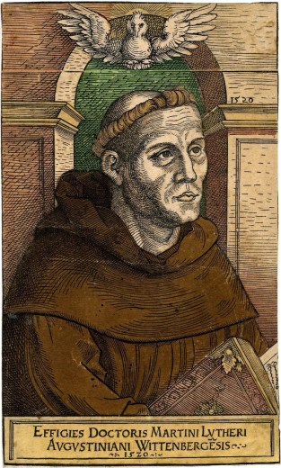Anon., copie du portrait de Luther, 1520.