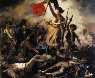 1. Delacroix, La Liberté guidant le peuple, 1830.