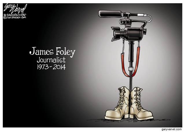 Gary Varvel, hommage à James Foley, 2014.