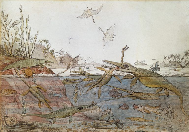 Henry De la Beche, Duria Antiquior, reconstitution, 1830.