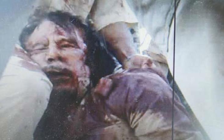 Lynchage de Kadhafi, 20/10/2011 (photogramme).