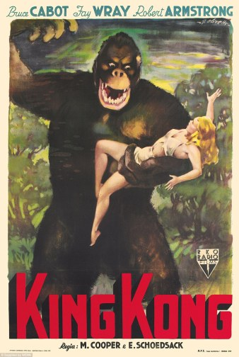 Affiche italienne de Giorgio Olivetti, King Kong, 1949.