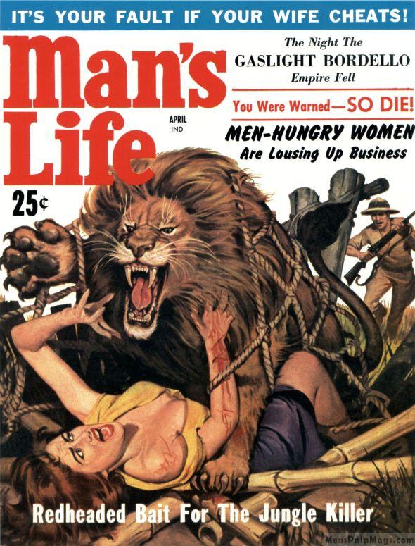 Man's Life, avril 1959.