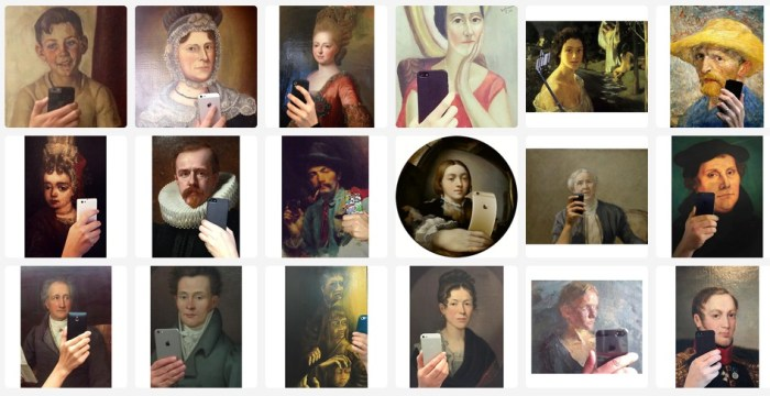 23. Extraits du Tumblr Museum of selfies.