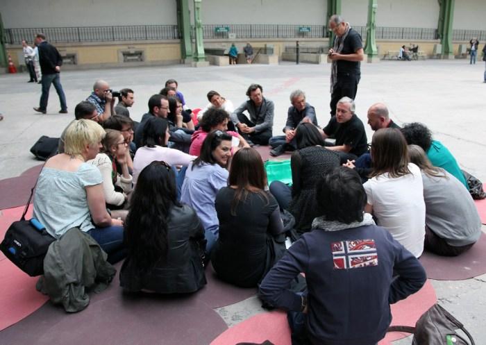 Réunion du groupe OrsayCommons au Grand Palais, juin 2011.