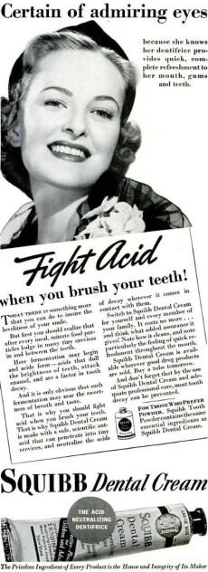 Publicité Squibb, 1938.